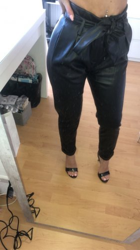 Pimkie Leather Trousers black-white