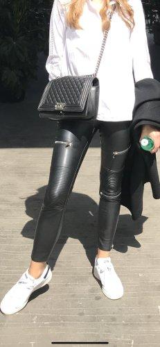 Zara Pantalone in pelle nero