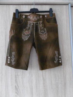 Moser Pantalon traditionnel en cuir brun