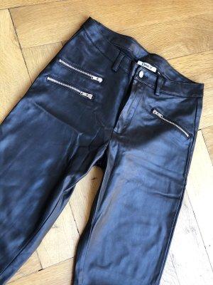 Only Pantalon en cuir noir