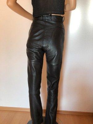 Hein Gericke Skórzane spodnie czarny Skóra