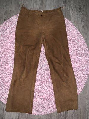 Prestige Elegance Pantalón de cuero coñac