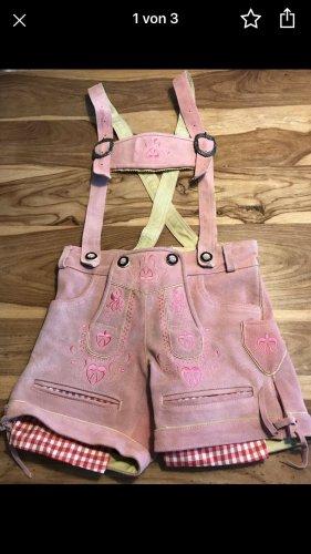 Pantalón de cuero tradicional color rosa dorado