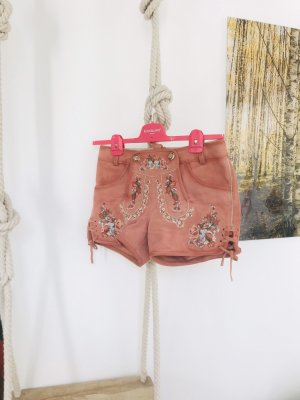 Krüger Pantalón de cuero tradicional rosa-rosa