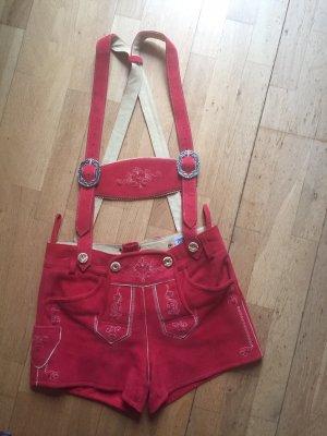 Country Line Pantalone in pelle tradizionale rosso