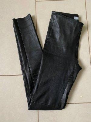 Samsøe & samsøe Leather Trousers black