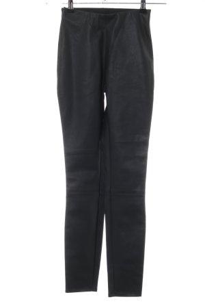 Pantalone in pelle nero stile casual