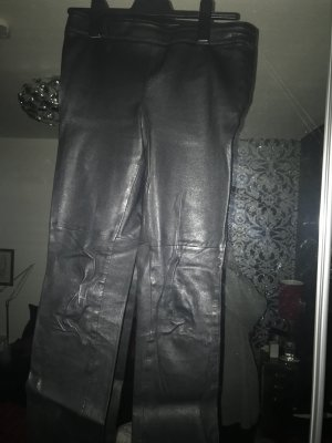 H&M Premium Leather Trousers black leather