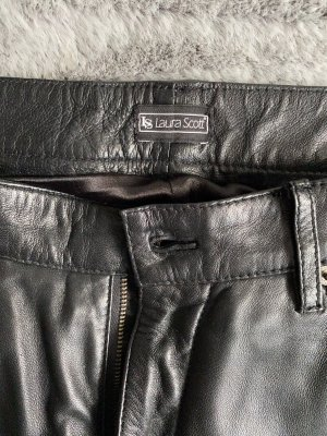 Laura Scott Leather Trousers black leather