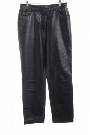 Leather Trousers black monogram pattern biker look