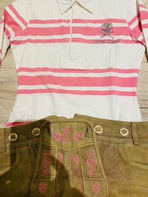 Pantalon bavarois beige-rose