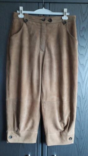 keine Ahnung Leather Trousers beige leather