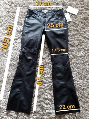 Heine Pantalone in pelle nero