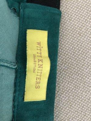 Witty Knitters Pantalón de cuero azul cadete