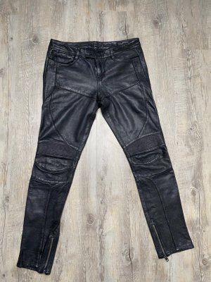 All Saints Leather Trousers black leather