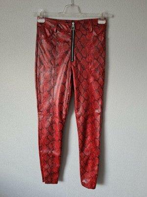 Bershka Leren broek veelkleurig Polyester