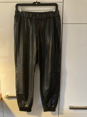 Boss Orange Leather Trousers black