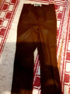 Drykorn Leather Trousers bronze-colored-brown leather