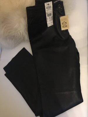Gerry Weber Pantalón de cuero negro Cuero