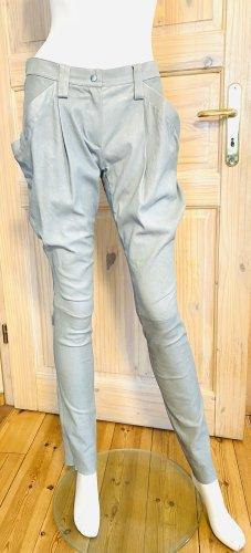 jitrois Pantalón de cuero gris claro Cuero