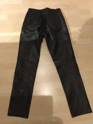 Mauritius Pantalone in pelle nero Pelle