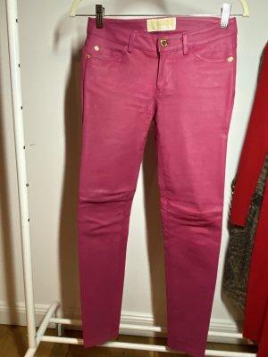 Michael Kors Skórzane spodnie różowy