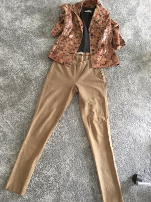 Noa Noa Leather Trousers light brown