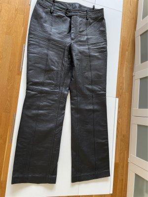 Oui Skórzane spodnie czarny