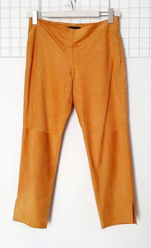 Prada Leather Trousers sand brown-yellow leather