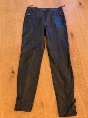 Strenesse Skórzane spodnie czarny Skóra