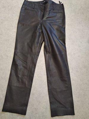 Taifun Pantalon en cuir brun foncé