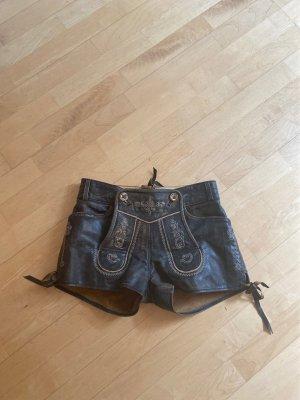 Country Maddox Tradycyjne skórzane spodnie ciemnobrązowy