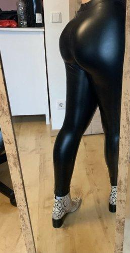 Pantalone in pelle nero