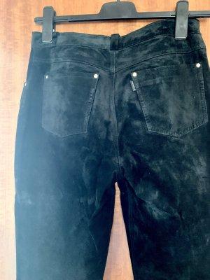 Dakota Pantalon en cuir noir cuir