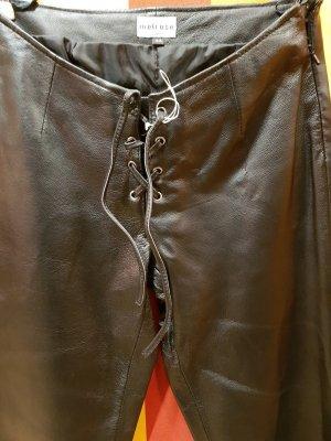 Melrose Leren broek zwart