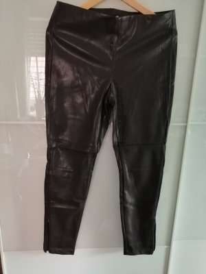 H&M Pantalon en cuir brun-brun foncé