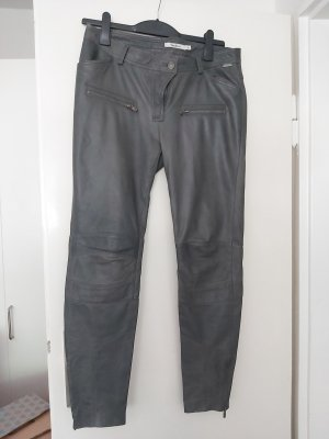 Pepe Jeans Leather Trousers dark grey leather