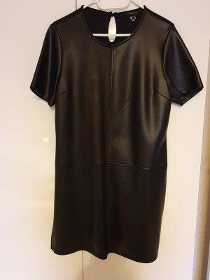 Atmosphere Robe en cuir noir