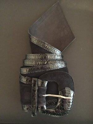 Hebilla del cinturón negro Imitación de cuero