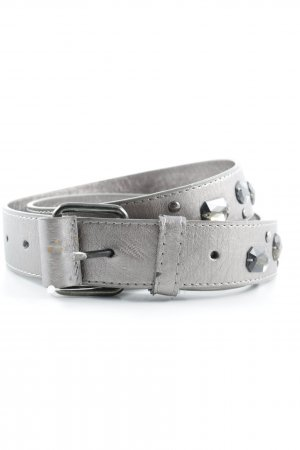 Faux Leather Belt silver-colored elegant