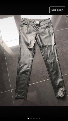 Rainbow Pantalon en cuir noir