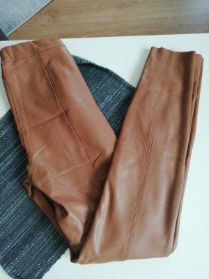 Amisu Leren broek bruin