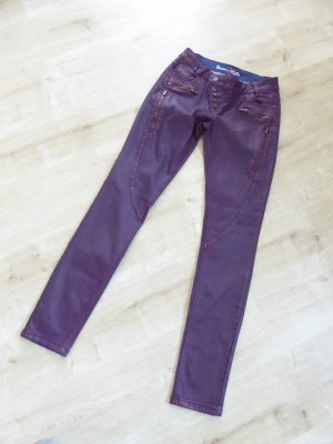 Buena Vista Leather Trousers dark violet imitation leather