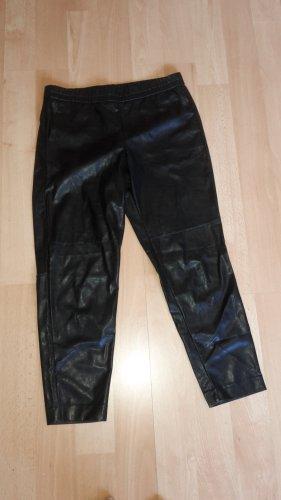 Lederimitathose schwarz