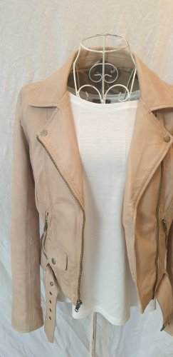 Aim Leather Jacket beige-dusky pink