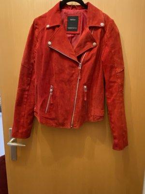 C&A Skórzana kurtka czerwony