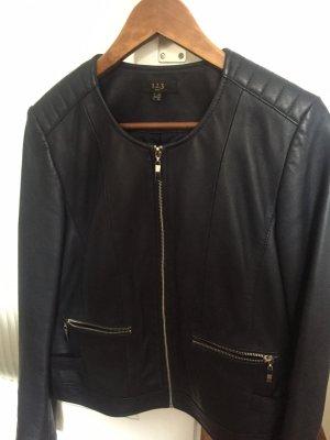 1.2.3 Paris Leather Jacket dark blue-blue
