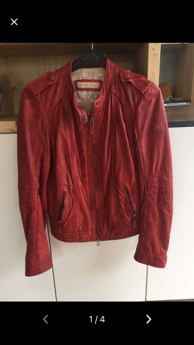 Mauritius Leather Jacket red leather