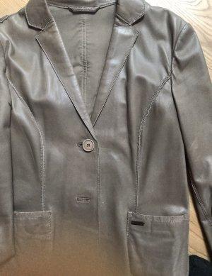 Milestone Leather Jacket grey brown-beige