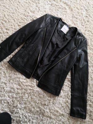 Mango Suit Faux Leather Jacket black